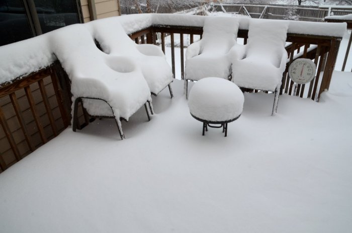 February 1, 2015: The Obligatory Patio Furniture Buried Under Snow  Photograph Today In Lincoln, NE
