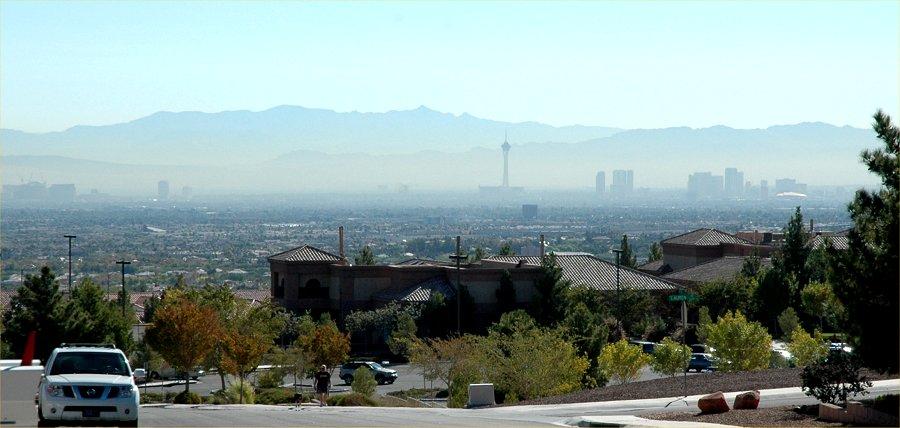 las vegas skyline. over the Las Vegas skyline